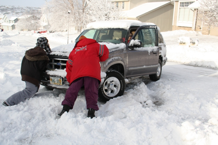Blizzard 2012 Aftermath 165th & Maple Area 024