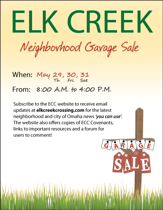 elk creek crossing omaha garage sales 2014
