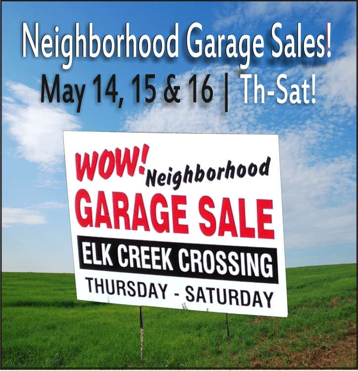 Elk Creek Crossing Omaha HOA 2015 Garage Sales