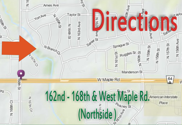 Omaha garage sales directions