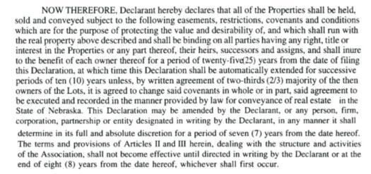 Covenants Amendment Clause ECC