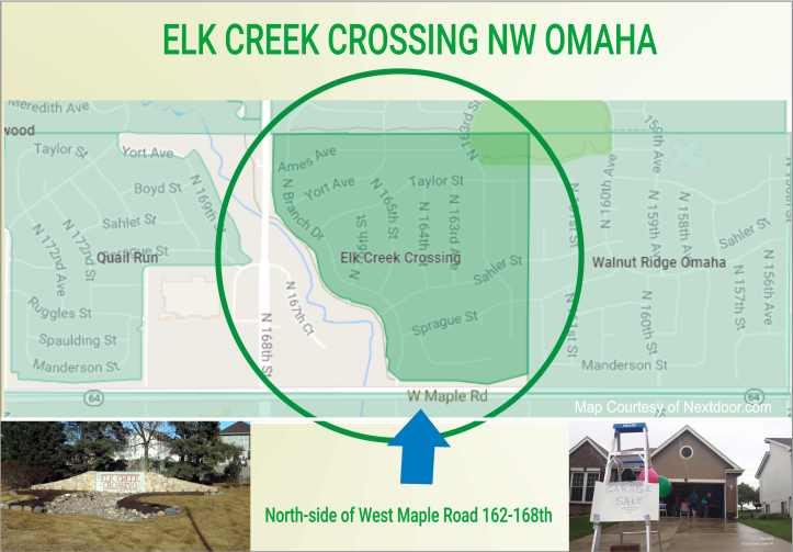 Elk Creek Crossing Map Garage Sales