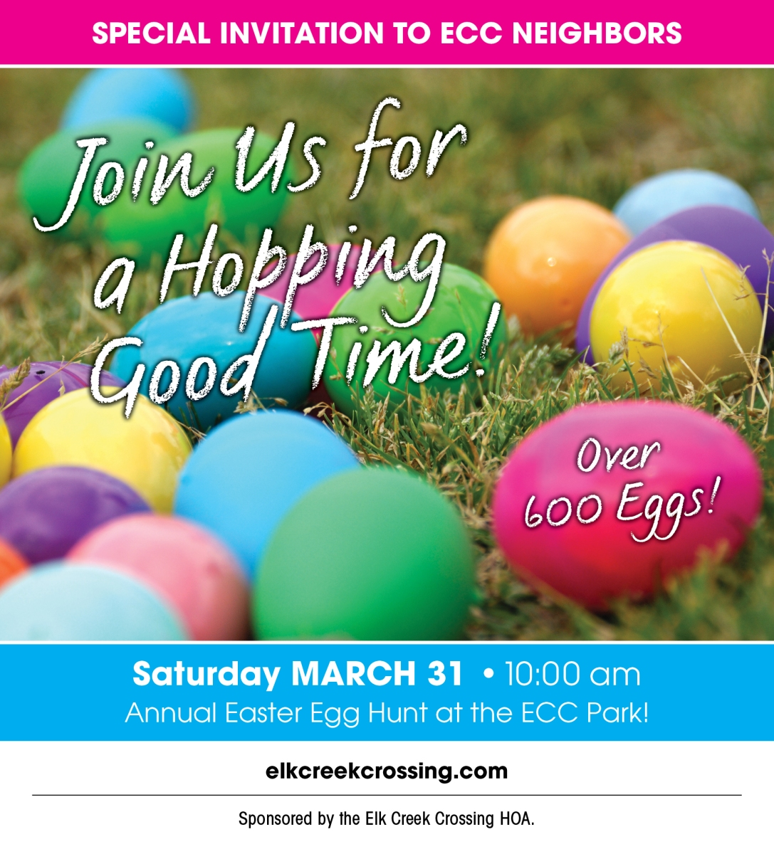 HOORAY - ECC Easter Egg Hunt Date Set!