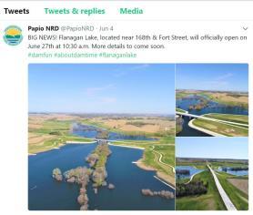 NRD-Tweet-Flanagan-Lake-Omaha-to-Open
